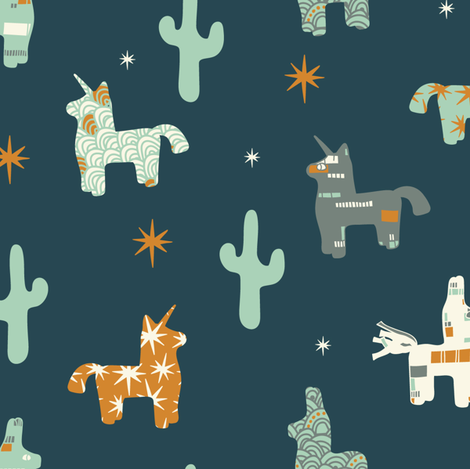 Friendly Pinata fabric by tiffanyheiger on Spoonflower - custom fabric
