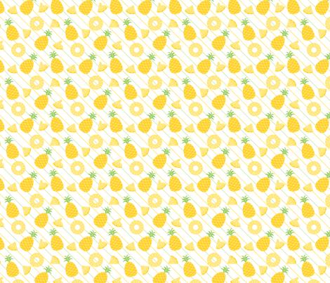 Tutti Fruitti - Pineapple fabric by blossomtreedesigns on Spoonflower - custom fabric