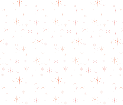 Sparkle Coral/White - baby girl fabric by sugarpinedesign on Spoonflower - custom fabric