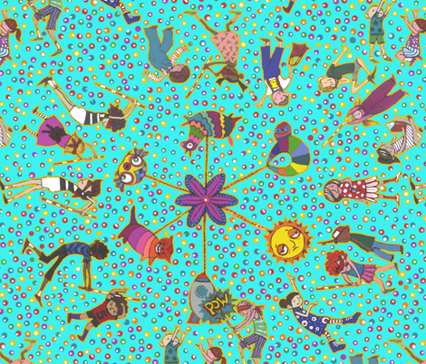 The Blindfolded Ballet  fabric by ceanirminger on Spoonflower - custom fabric