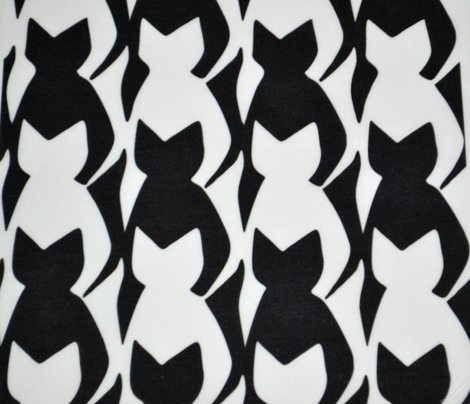 Black and White Cats Tesselation