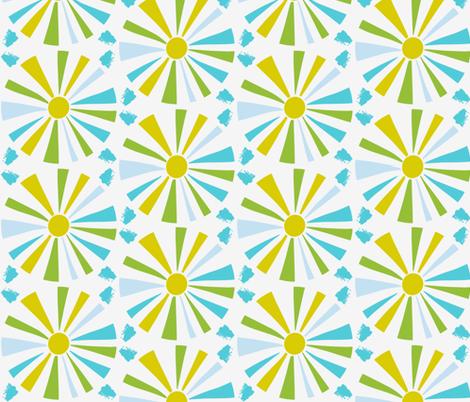 Sunburst Brights fabric by onelittleprintshop on Spoonflower - custom fabric