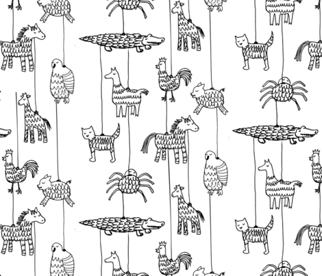 Dignified Pinatas fabric by mrshervi on Spoonflower - custom fabric