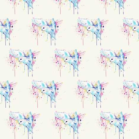 Rainbow Barn Owl fabric by ludwigvanbacon on Spoonflower - custom fabric