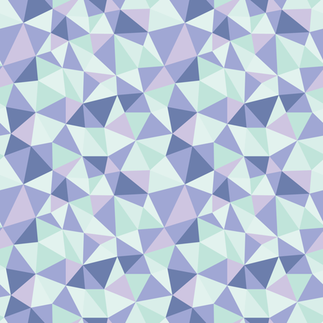 Origami Glacial fabric by tarynosaurus on Spoonflower - custom fabric