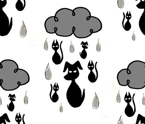 raining cats n dogs fabric by lynnelektra on Spoonflower - custom fabric
