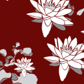 Water_Lily_Ox Blood Grey