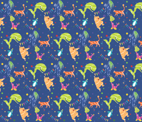 Zoo Party fabric by colour_angel_by_kv on Spoonflower - custom fabric