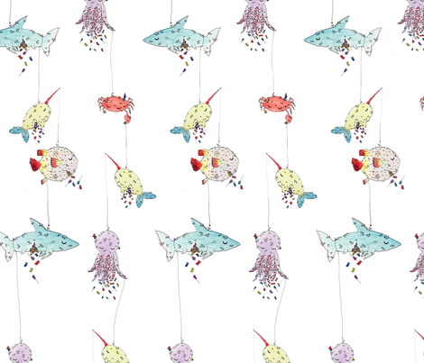 Underwater Piñata Party fabric by hikomari on Spoonflower - custom fabric