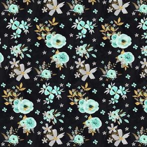 Mint Floral Chalkboard