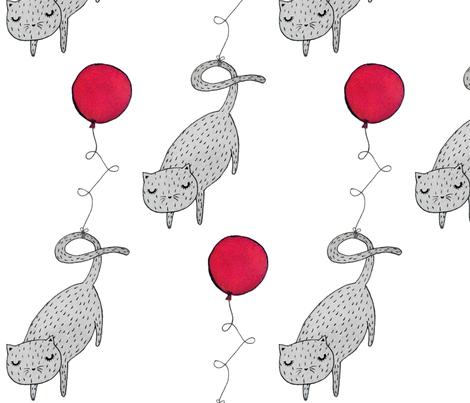 Balloon Cat fabric by hikomari on Spoonflower - custom fabric