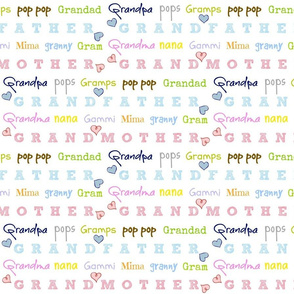 grandfather/mother - SMALL  color crush hearts