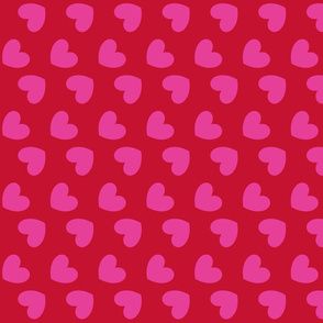 Hearts_pink on red
