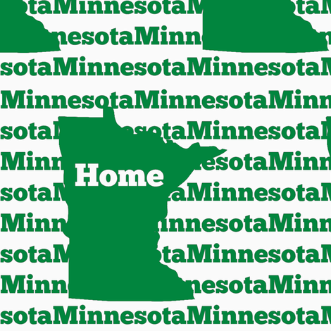 Home in Minnesota-Green fabric by sunshineandspoons on Spoonflower - custom fabric