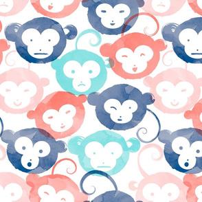 Many Monkey Faces