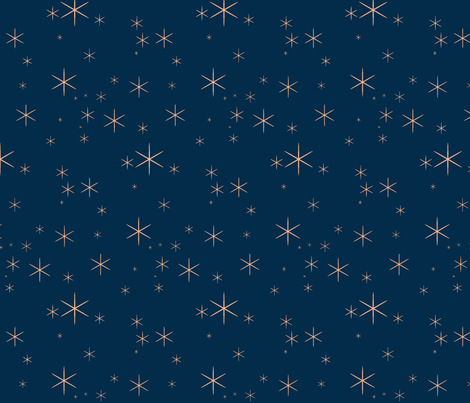 Sparkle-navy/coral fabric by sugarpinedesign on Spoonflower - custom fabric