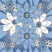 Beautiful Victorian Flowers Fabric #1