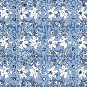 Beautiful Victorian Flowers Fabric #1