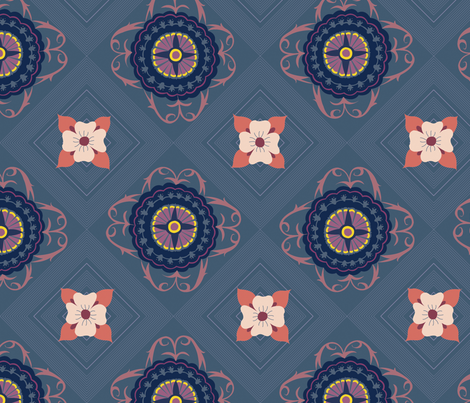 Courtyard - Riviera fabric by abbyhersey on Spoonflower - custom fabric