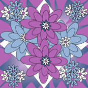 Beautiful Victorian Flowers Fabric #3