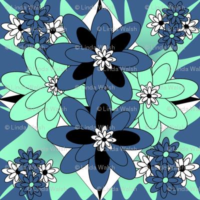 Beautiful Victorian Flowers Fabric #5