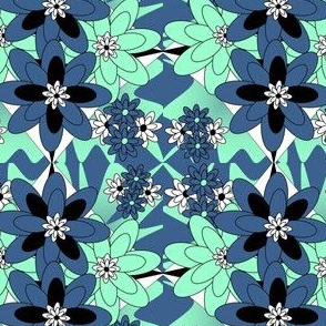 Beautiful Victorian Flowers Fabric #5