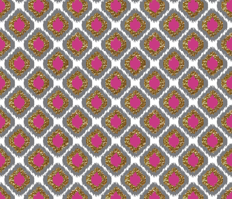 Ikat  Gold Small fabric by portage_and_main on Spoonflower - custom fabric