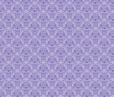 Seaweed Damask- Lavender fabric by sugarpinedesign on Spoonflower - custom fabric