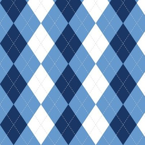 Blue Argyle Diamond Pattern Preppy Pattern