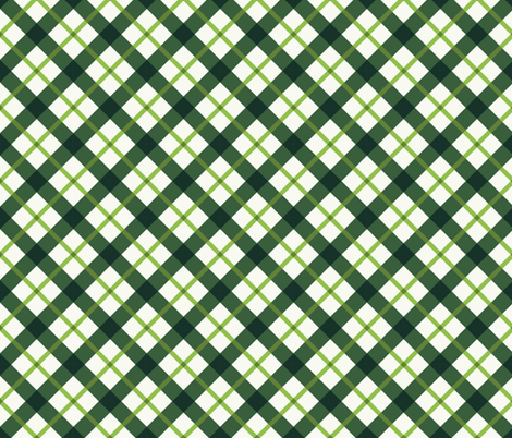 St. Patricks Day Green Plaid fabric by khaus on Spoonflower - custom fabric