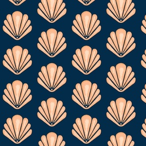 Clamshells -Navy/Coral