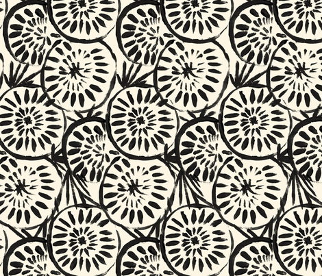 Medallions - Black Cream fabric by crystal_walen on Spoonflower - custom fabric