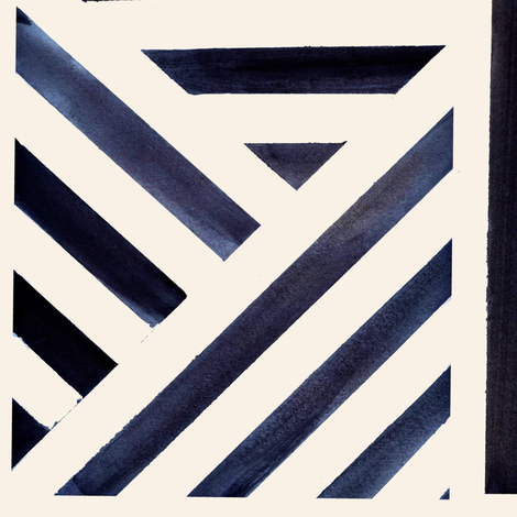 Watercolor_Stripe_Midnight fabric by crystal_walen on Spoonflower - custom fabric