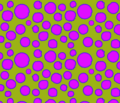 blob_lime fabric by bbusbyarts on Spoonflower - custom fabric
