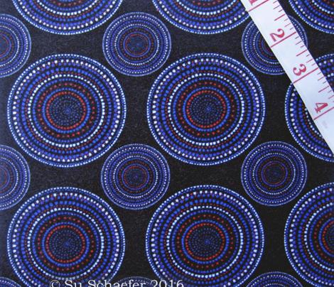 Dancing dervish circles on black (geometric) by Su_G_©SuSchaefer