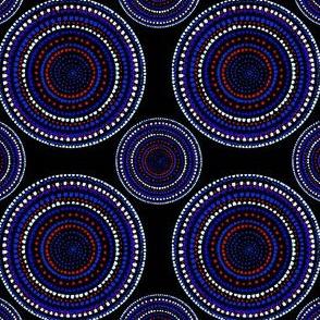 Dancing dervish circles on black (geometric) by Su_G