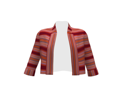 BOATS* Stripes with Deep Red Runway