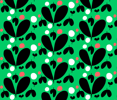 dicot sprouts (green) fabric by hilarydana on Spoonflower - custom fabric