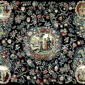 victorian baroque floral flowers horn plenty fruits peaches pomegranates grapes pears plums roses butterfly berry cherry kings antique shabby chic romantic neoclassical berries cherries barley wheat rye royalty palace butterflies leaf leaves