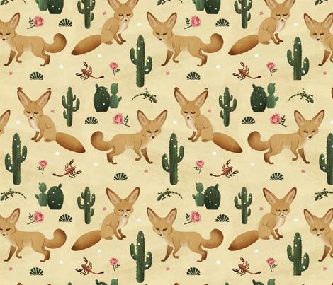 Fennec Fox fabric by sophieeves on Spoonflower - custom fabric