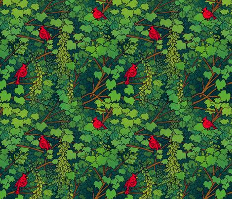 cardinal fabric by laurenjmyers on Spoonflower - custom fabric