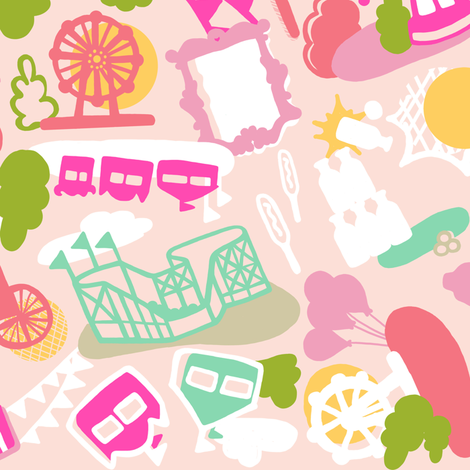 State Fair in pink fabric by lburleighdesigns on Spoonflower - custom fabric