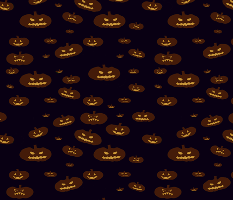 Pumpkin Glow fabric by farrellart on Spoonflower - custom fabric
