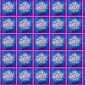Blue Om Batik Squares-ed