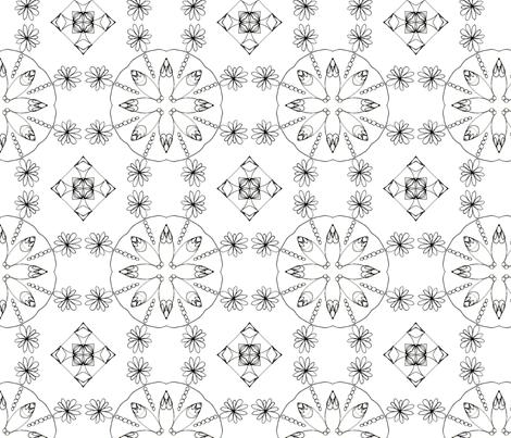 daisy power fabric by lyric_art on Spoonflower - custom fabric