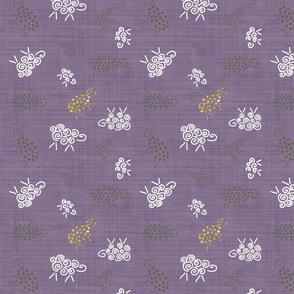 moutons de panurge pourpre et glitter
