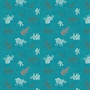 moutons de panurge bleu canard