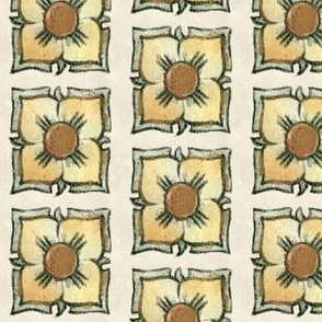 Art Nouveau Floral Squares