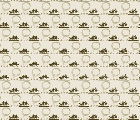 Team_Ropers_Brown fabric by the_rural_rose on Spoonflower - custom fabric
