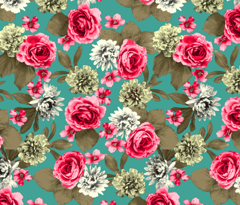 rose3d fabric by yarnandcloth on Spoonflower - custom fabric
